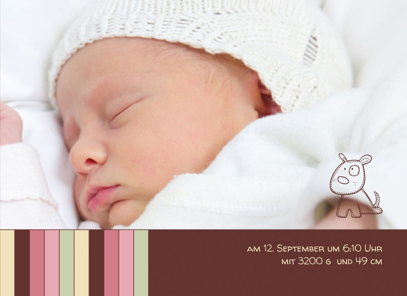 Ansicht 7 - Babykarte Zwillinge Retro