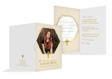 Kommunion Einladung Goldrausch