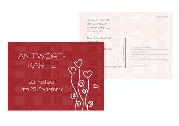 Hochzeit Antwortkarte Liebestraum