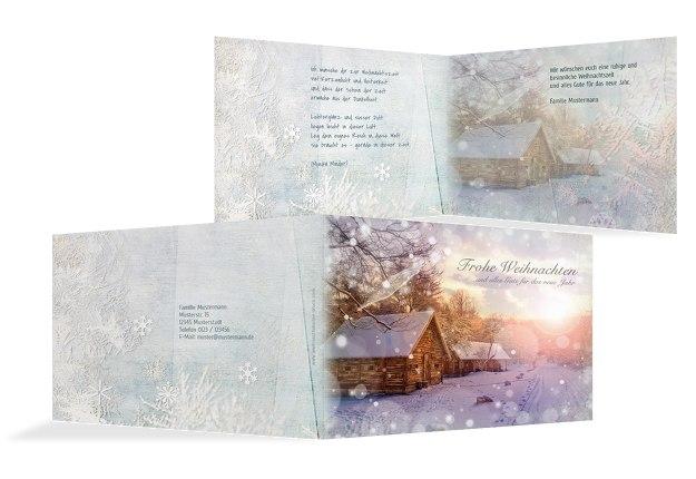 Grußkarte Schneehütte