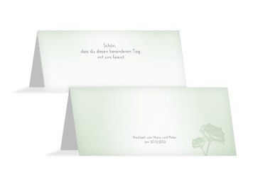 Hochzeit Tischkarte 3 Vermählung