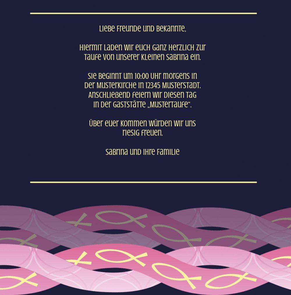 Ansicht 5 - Taufkarte Ichthys