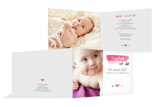 Babykarte Aquarell