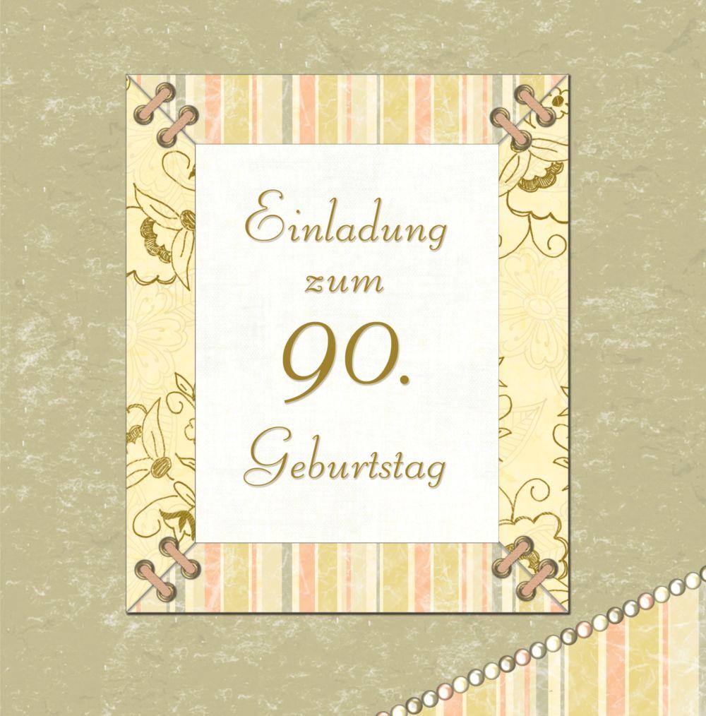Ansicht 3 - Geburtstagseinladung Nostalgie 90 Foto
