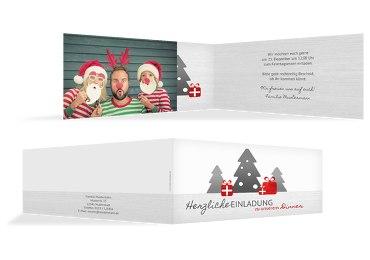 Foto Weihnachtseinladung Geschenkebaum
