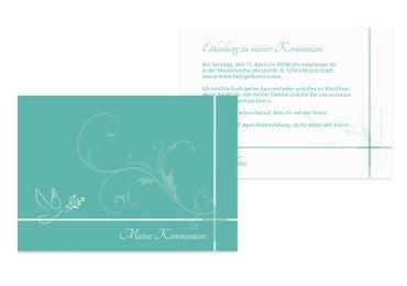 Kommunionskarte floral