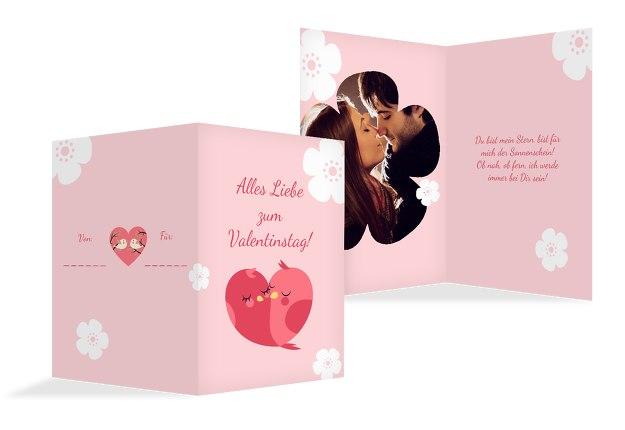 Valentinskarte Vogelpaar