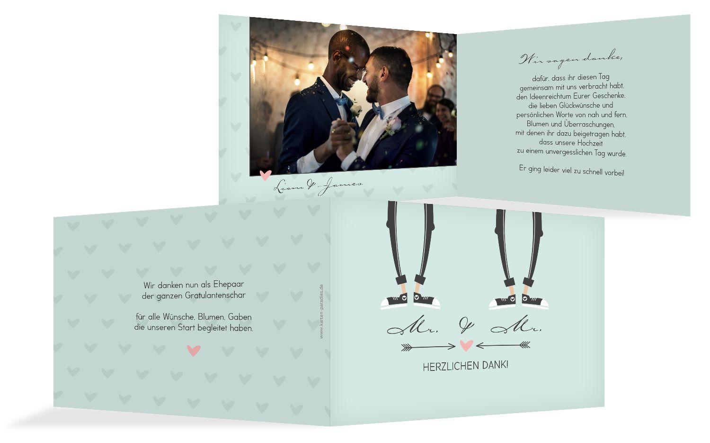 Hochzeit Dankeskarte Pärchen - Männer