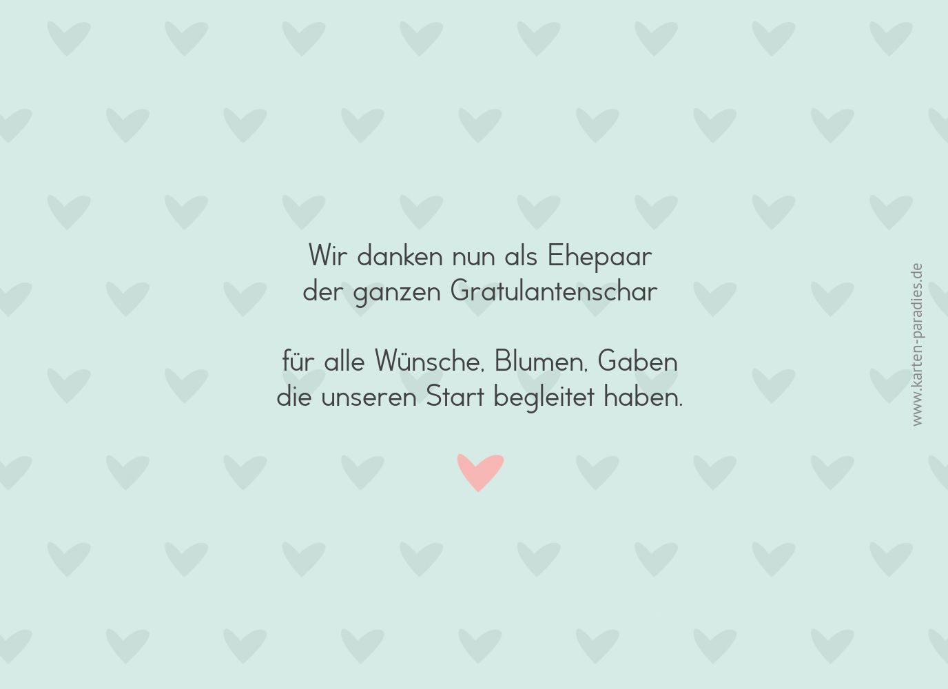 Ansicht 2 - Hochzeit Dankeskarte Pärchen - Männer