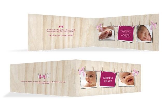 Babykarte Schleife
