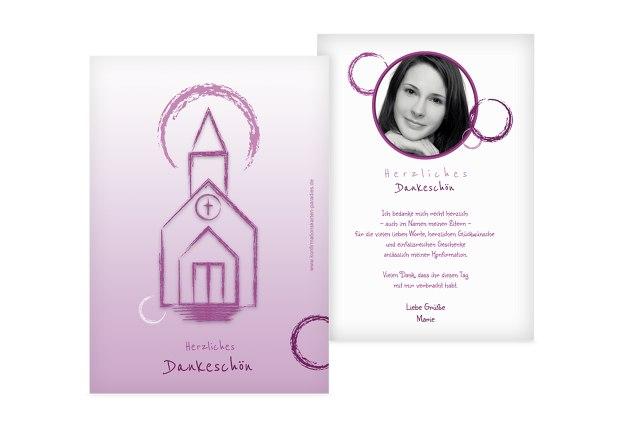 Konfirmation Dankeskarte Kirche