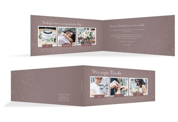 Hochzeit Dankeskarte Vintage Flower