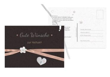 Hochzeit Ballonkarte sanfte Blüte
