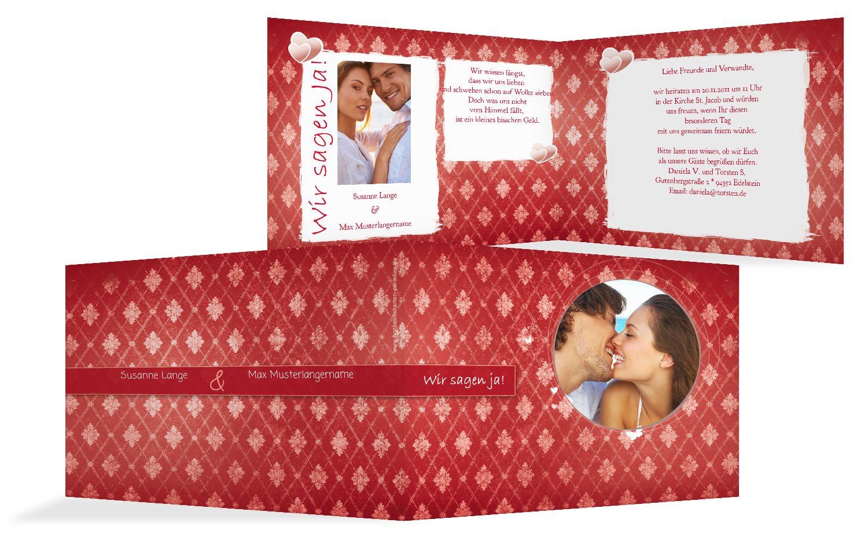 Hochzeit Einladung 3 Liebesbündnis