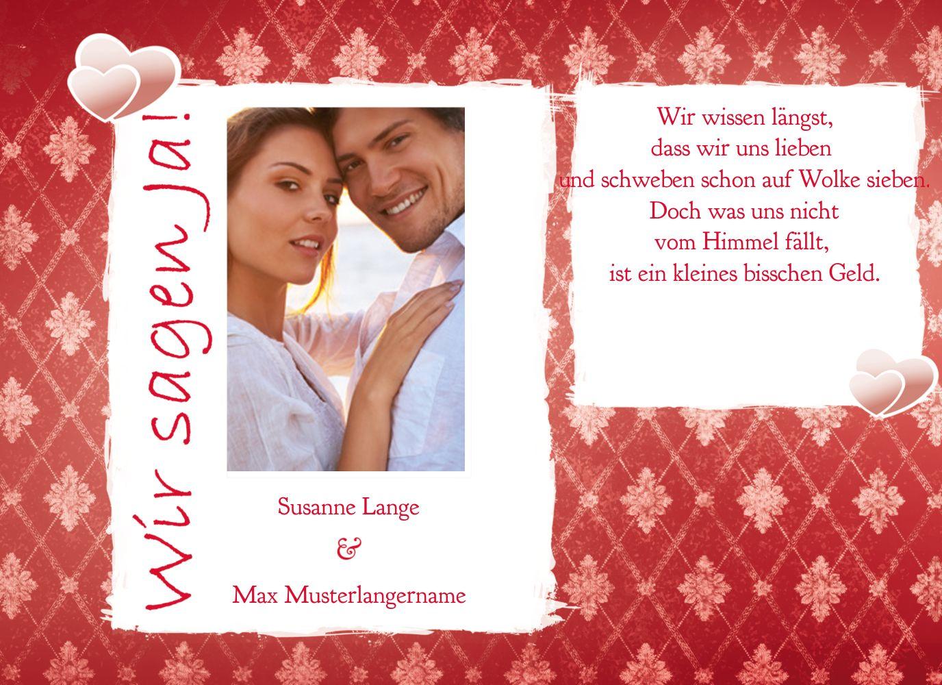 Ansicht 4 - Hochzeit Einladung 3 Liebesbündnis