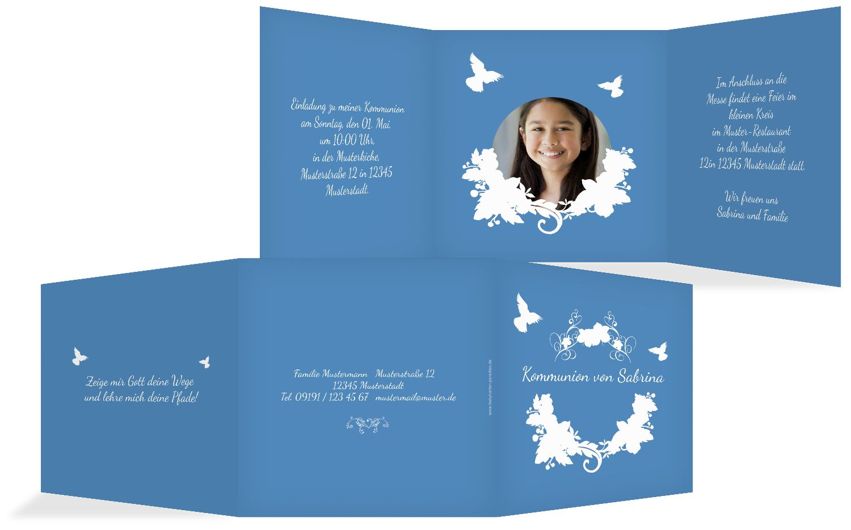 Kommunionskarte Vogel