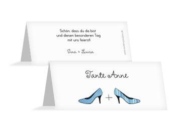Hochzeit Tischkarte High Heels