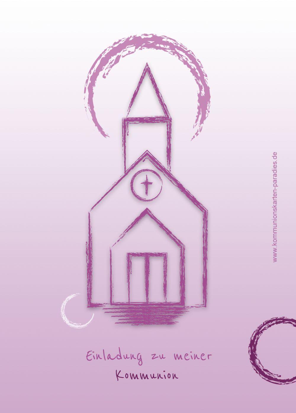 Ansicht 2 - Kommunionskarte Kirche