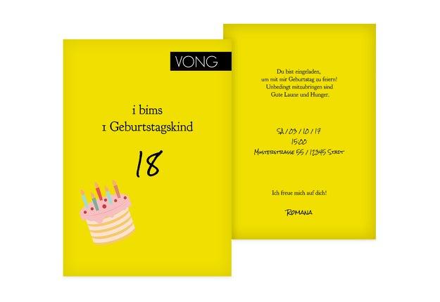 Geburtstagseinladung i bims