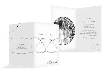 Hochzeit Dankeskarte dresses