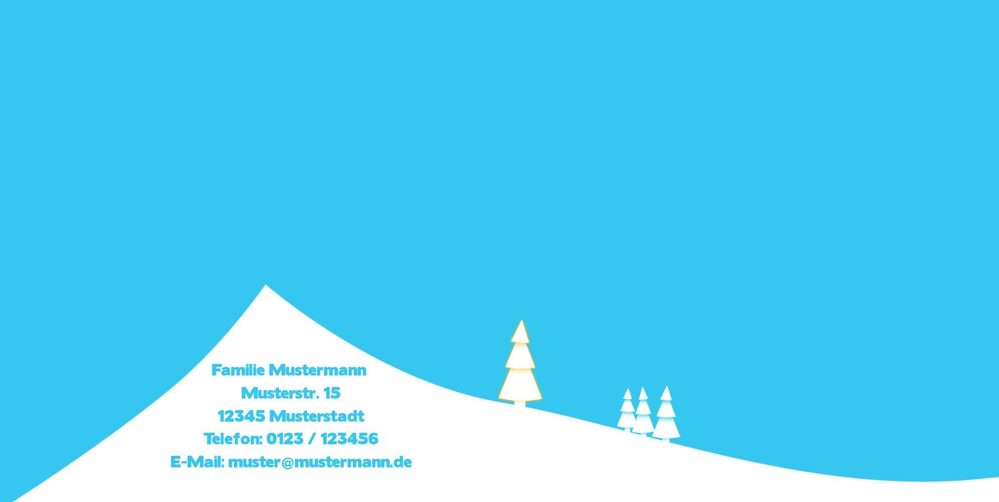 Ansicht 2 - Grußkarte Winterlandschaft