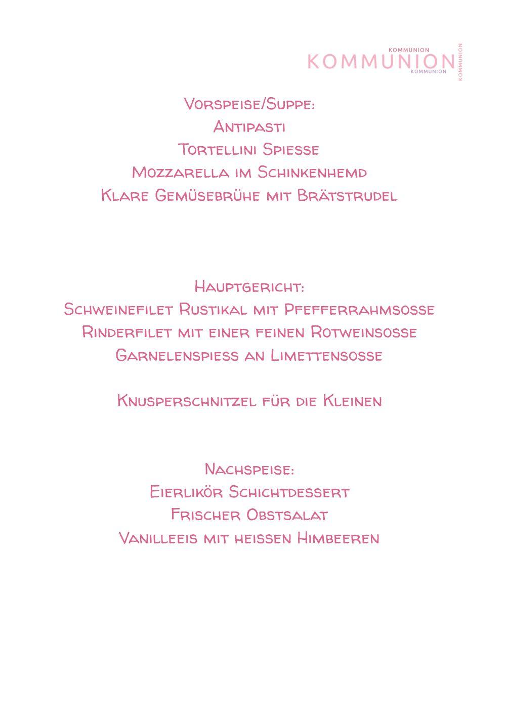 Ansicht 5 - Kommunion Menükarte Script