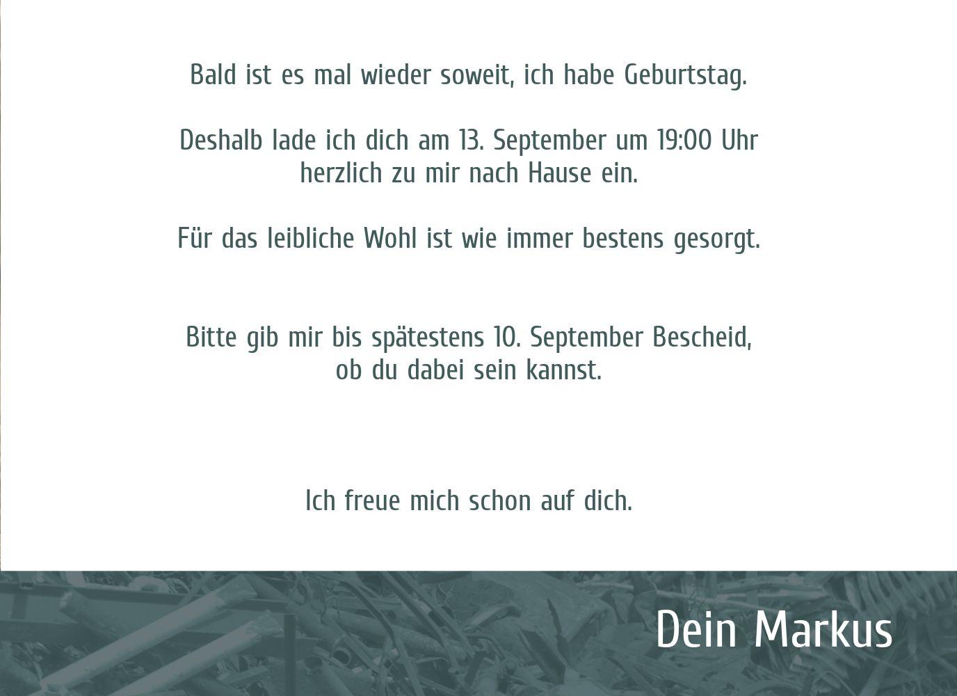 Ansicht 5 - Einladungskarte Altes Eisen Foto