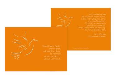 Konfirmation Dankeskarte Pigeon