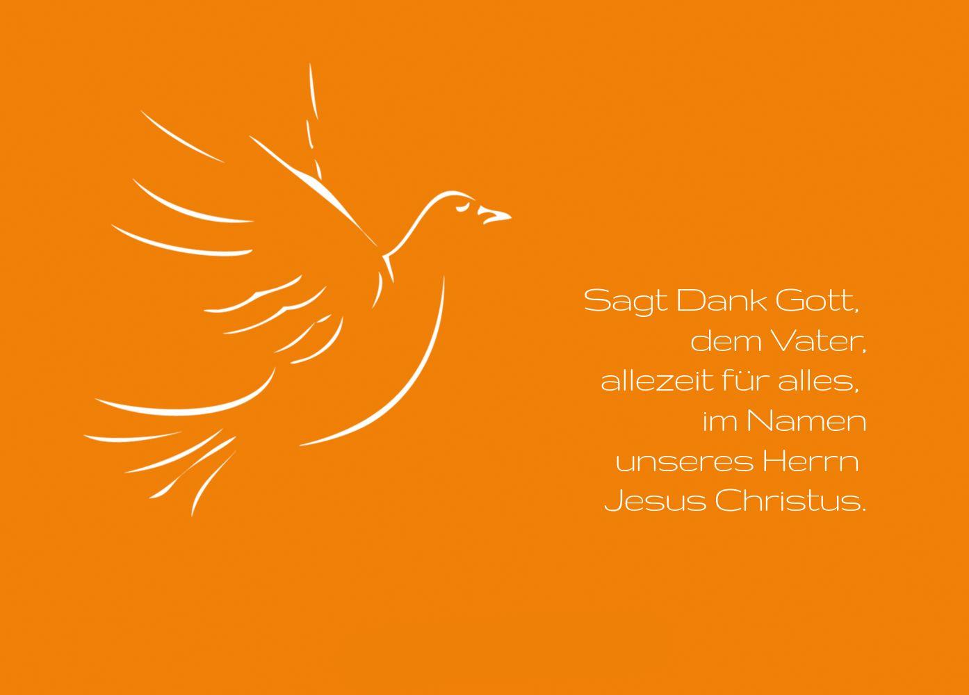 Ansicht 2 - Konfirmation Dankeskarte Pigeon