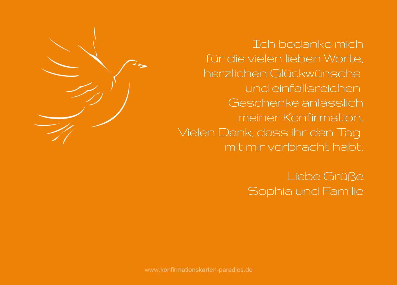 Ansicht 3 - Konfirmation Dankeskarte Pigeon