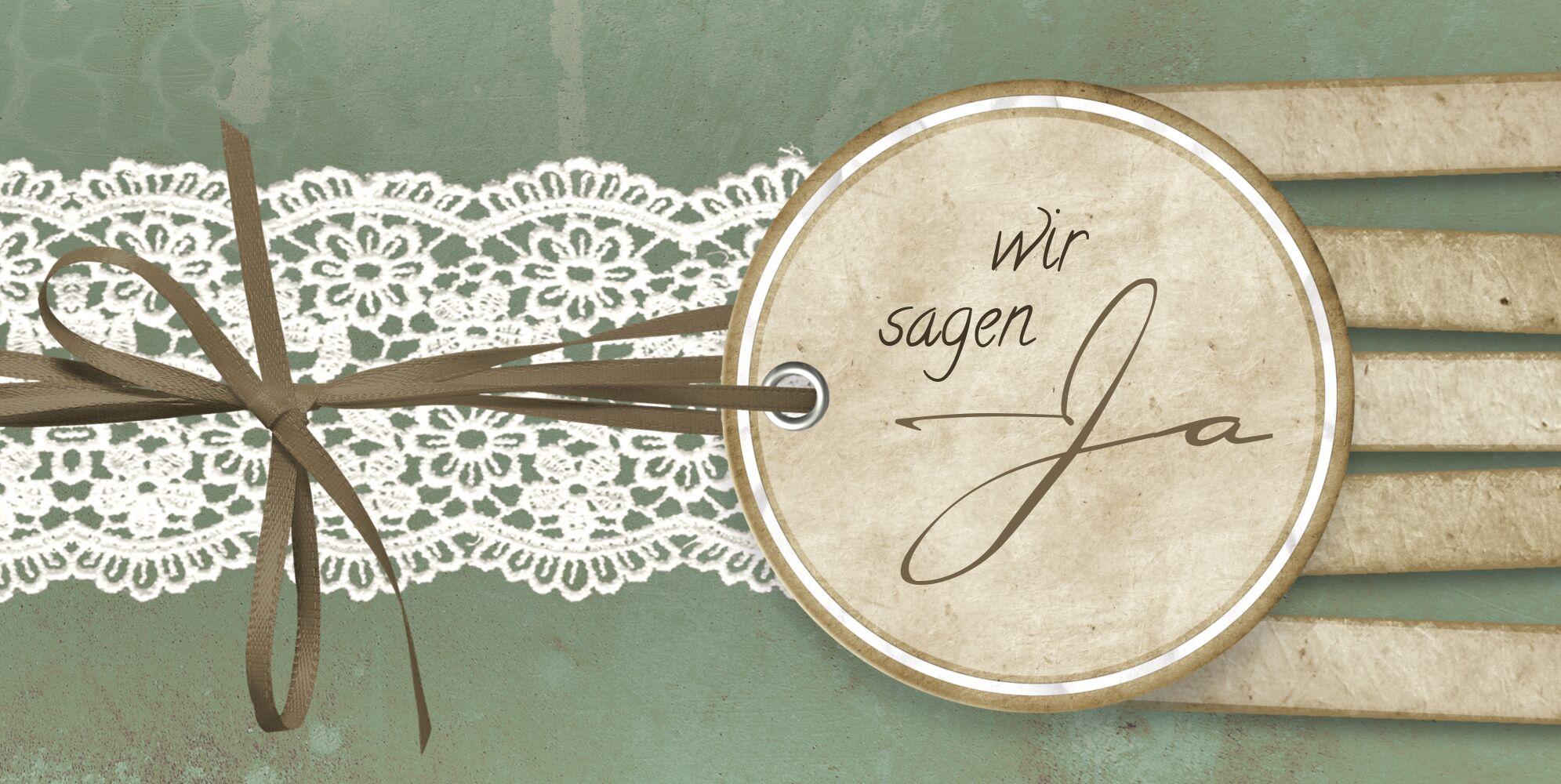 Ansicht 3 - Hochzeit Einladung Vintage Lace