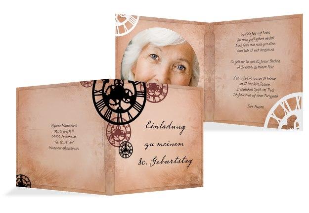 Einladungskarten Zum 80 Geburtstag Karten Paradies De