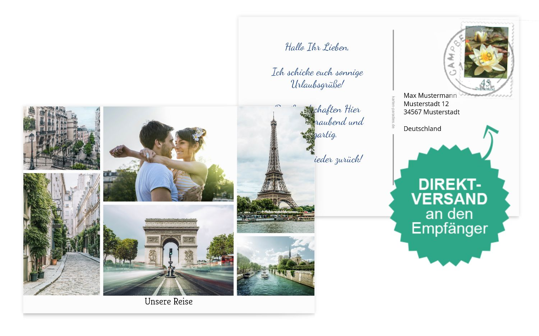 Fotopostkarte Levels
