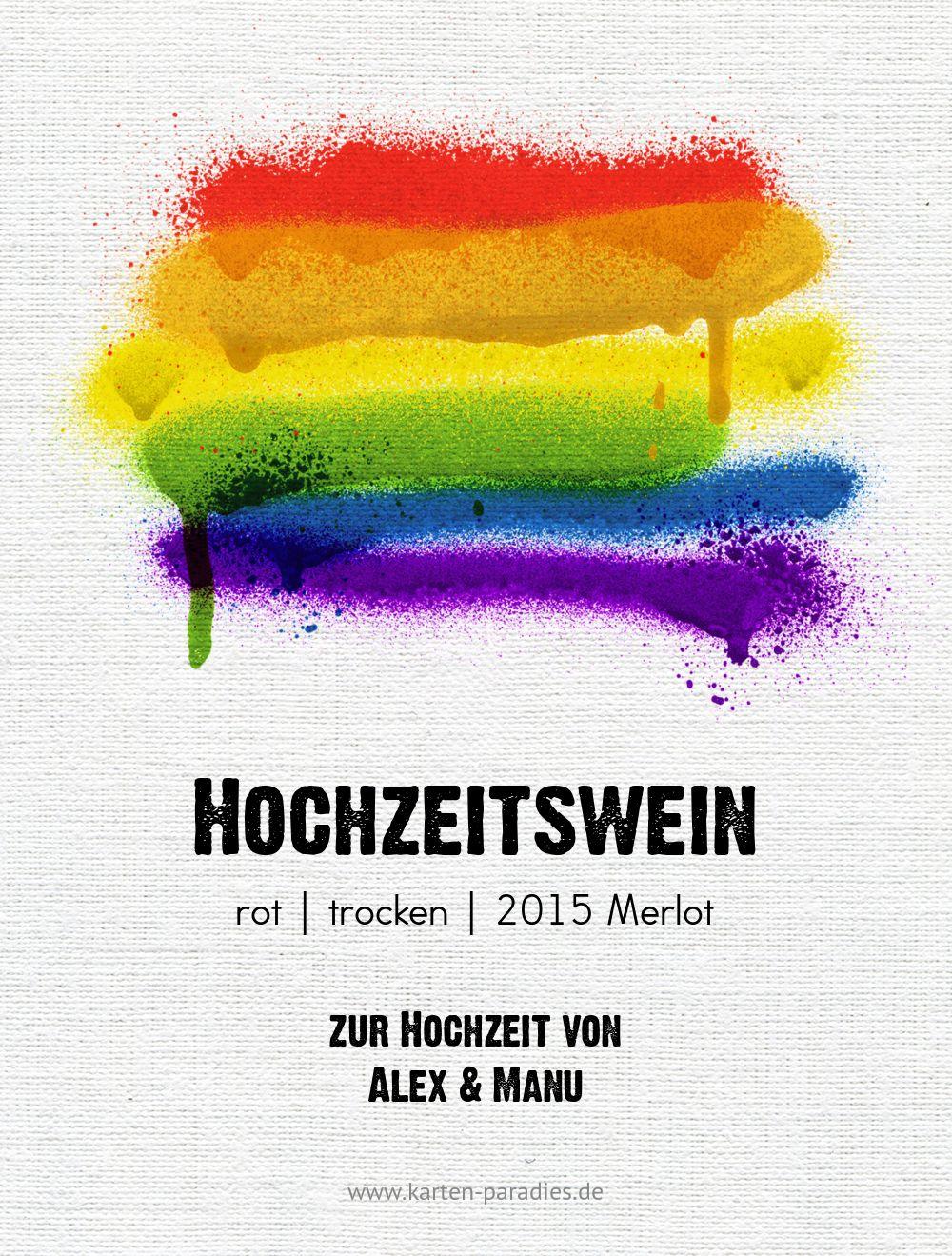 Ansicht 2 - Flaschenetikett Regenbogenliebe