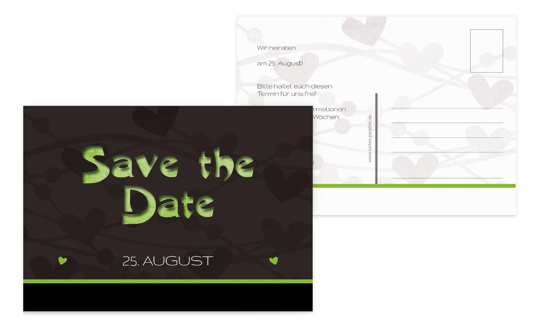 Hochzeit Save the Date wilde Herzen