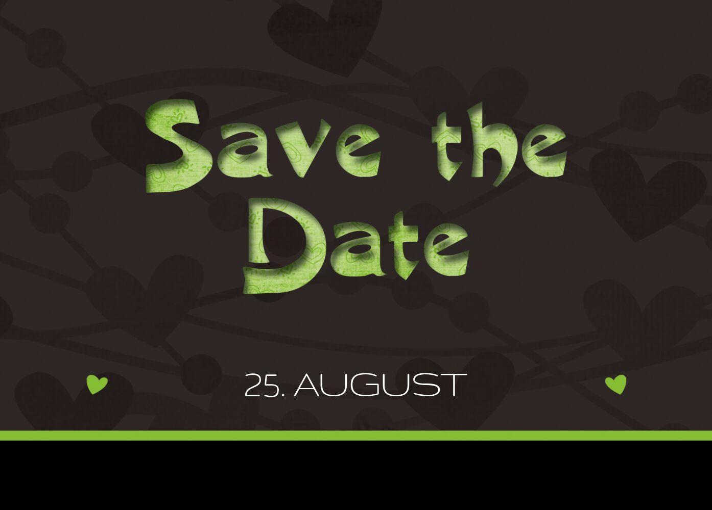 Ansicht 2 - Hochzeit Save the Date wilde Herzen