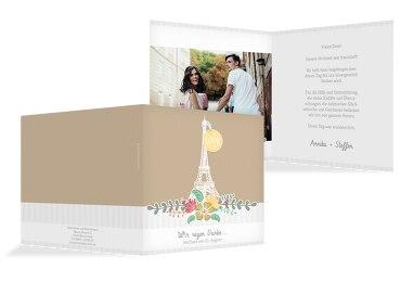 Hochzeit Dankeskarte Paris