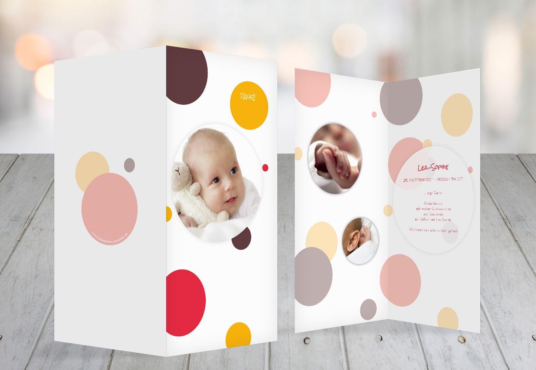 baby dankeskarte kleckse selbst gestalten. Black Bedroom Furniture Sets. Home Design Ideas