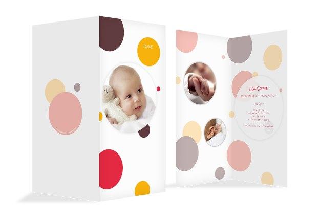 Baby Dankeskarte Kleckse