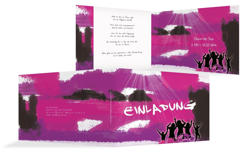 Einladungskarten partylight