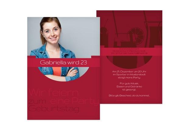 Einladungskarte Cocktail Foto