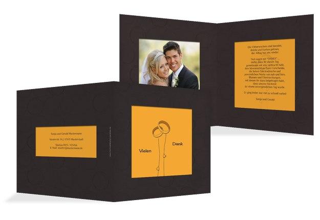 Hochzeit Dankeskarte Eleganz