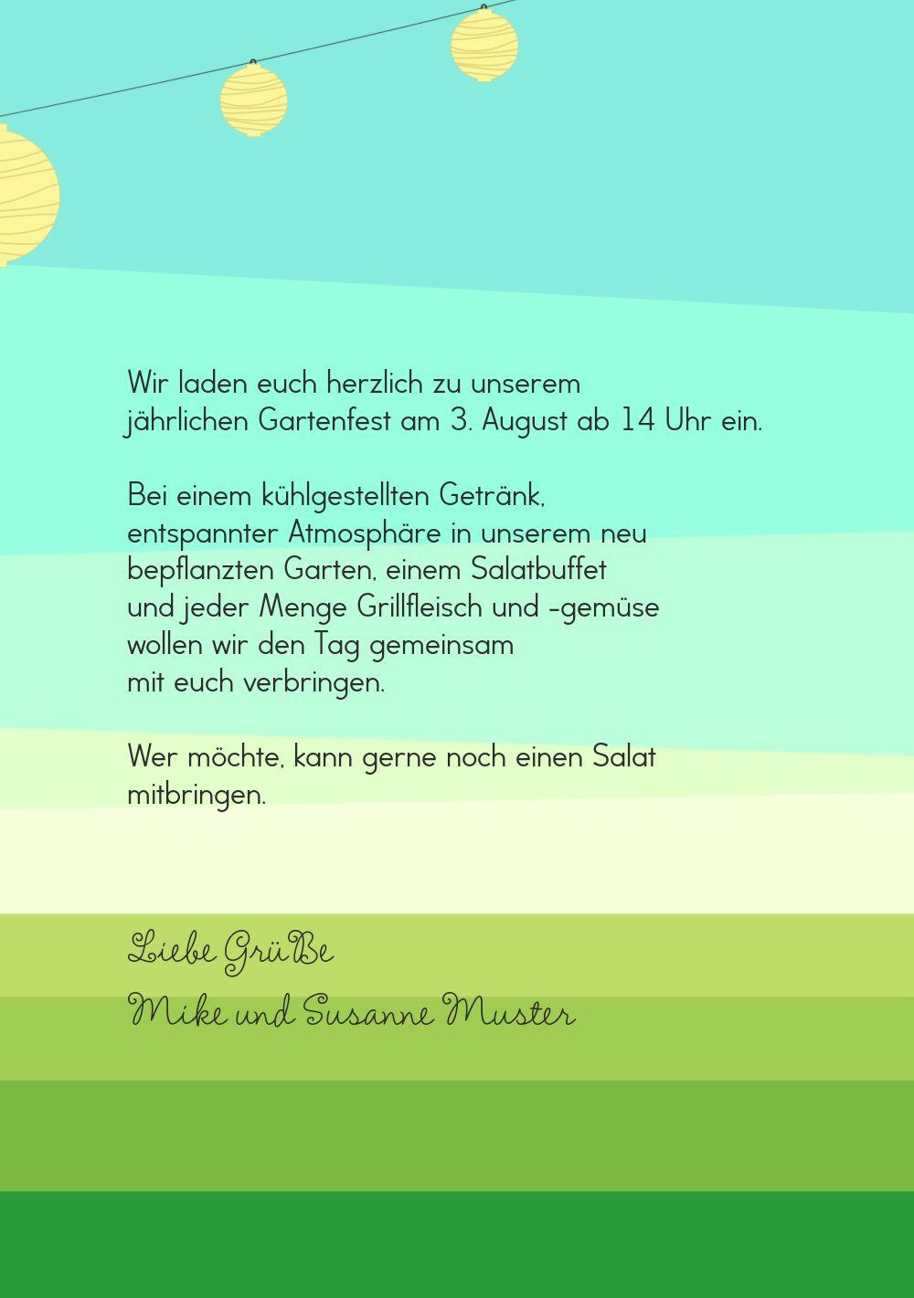 Ansicht 5 - Einladung Sommerfest flächiger Garten