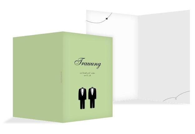 Hochzeit Kirchenheft Umschlag suits