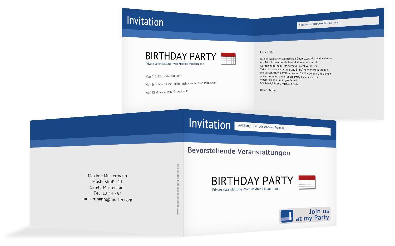 Geburtstagseinladung Gefällt mir!