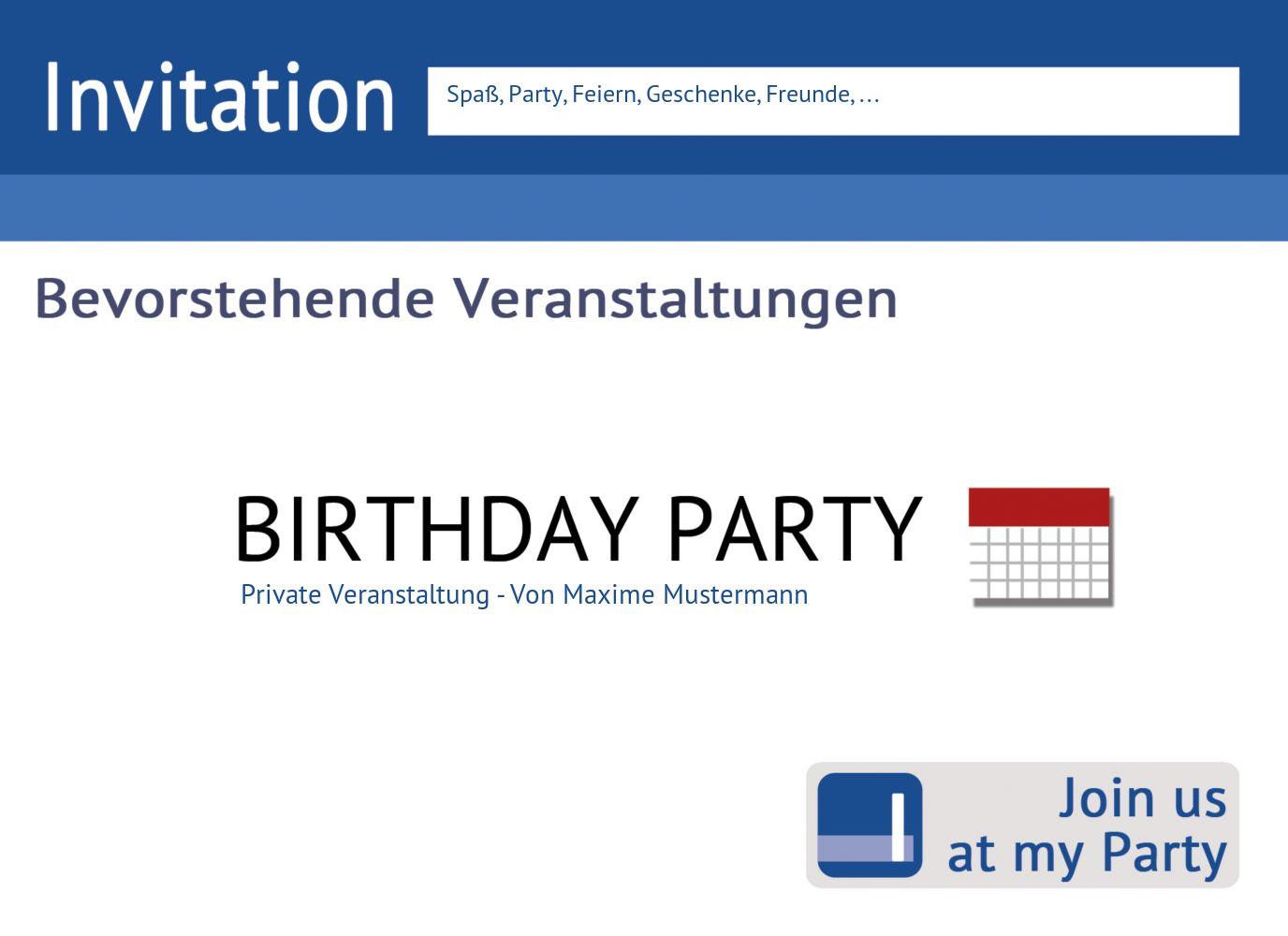 Ansicht 3 - Geburtstagseinladung Gefällt mir!