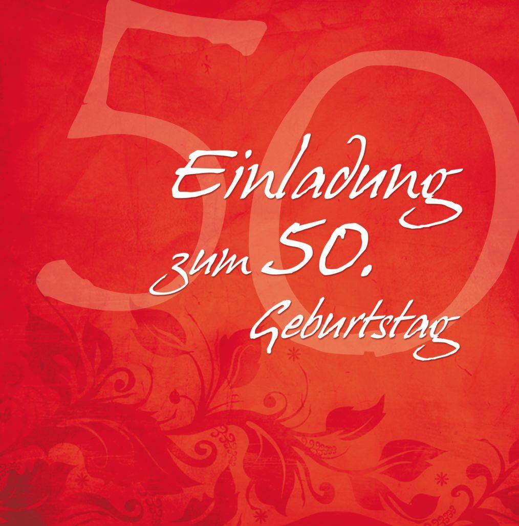 Ansicht 4 - Geburtstagskarte floral verspielt 50 Foto