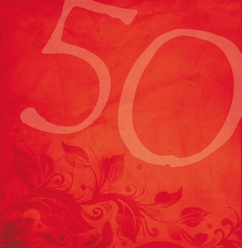 Ansicht 6 - Geburtstagskarte floral verspielt 50 Foto