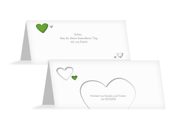 Hochzeit Tischkarte Herzform