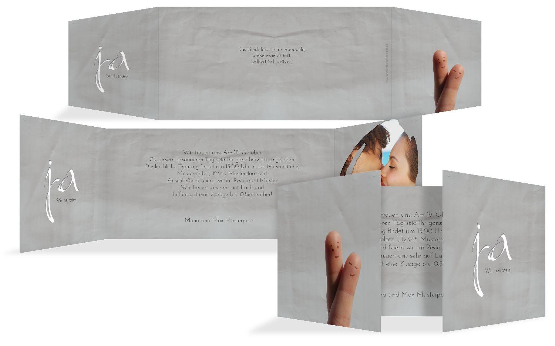 Hochzeit Einladung Fingerpaar